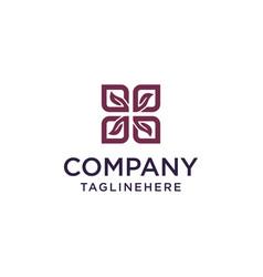 square leaf logo concept vector image