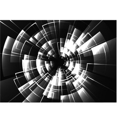 technological black and white radar light effect vector image
