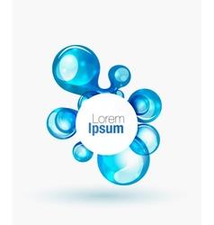 Technology liquid business emblem vector image