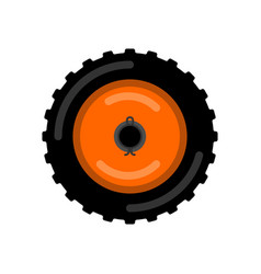 tractor wheel isolated wheel trolley vector image