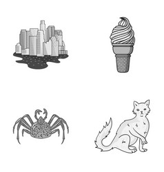 travel animal and other monochrome icon in vector image