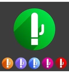 Vibrator sex toy dildo icon flat web sign symbol vector
