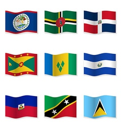 Waving flags of different countries 10 vector image