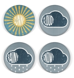 Weather vintage grunge Icons with Text vector