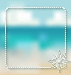 Wind rose marine background vector