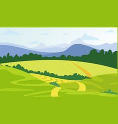 green landscape background vector image vector image