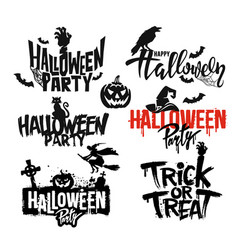 happy halloween text vector image