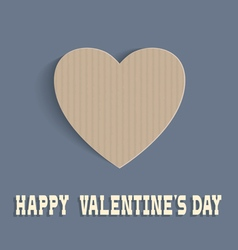 Heart from cardboard for Valentines day vector image vector image