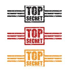 top secret three set vector image vector image