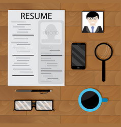 write cv with photo vector image