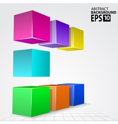 3D Colorful Cube Arc Abstract Background vector image