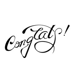 congrats lettering sign isolated vector image