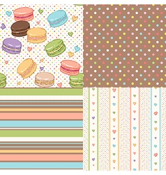 nice patterns sweet vector image vector image