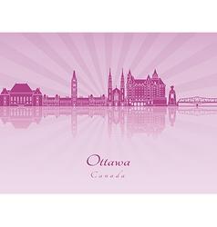 Ottawa V2 skyline in purple radiant orchid vector image vector image