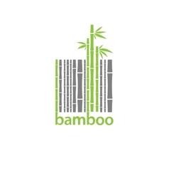 Bamboo logo symbol stylized as barcode vector image vector image