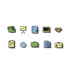 business icon sets vector image