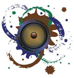 Grunge audio speaker3 vector