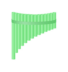 pan flute in light green design vector image