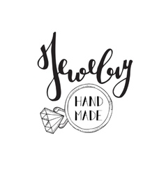 Logo for shop of handmade jewelry vector image