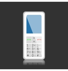 Mobile phone with keys vector image