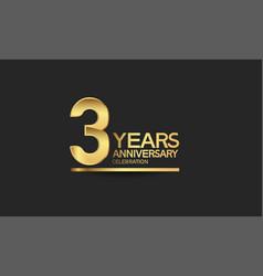 3 years anniversary celebration with elegant vector