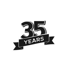 35 years anniversary logotype isolated vector image