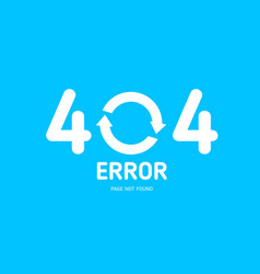 404 error not found page with restart icon vector
