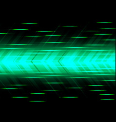 abstract green arrow speed power technology vector image