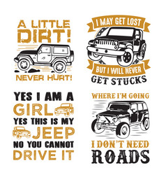 Adventure car quote and saying set vector