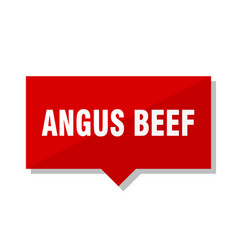 Angus beef red tag vector