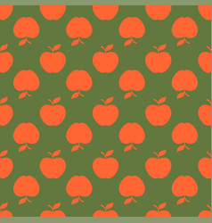 apple green orange seamless pattern background vector image