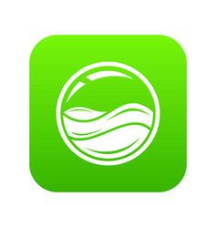 Aqua window icon green vector