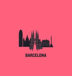 barcelona principal buildings vector image
