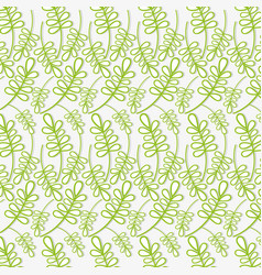 Beautiful green leaves pattern background vector