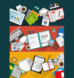 business infographic backgrounds set vector image