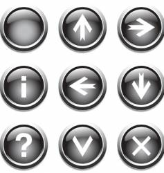 buttons with signs vector image