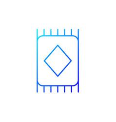 carpet gradient linear icon vector image