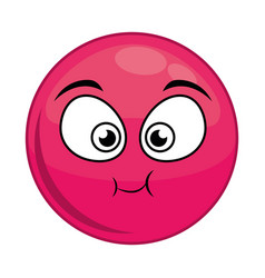 Cartoon face icon vector