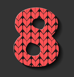 Colorful abstract number eight symbol vector