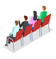 conference participants are sitting on chairs vector image