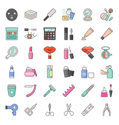 Cosmetic and beauty icon set 2 vector