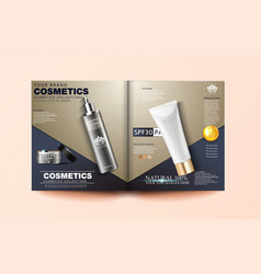 cosmetic magazine template cosmetic brochure vector image