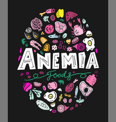 creative anemia background vector image