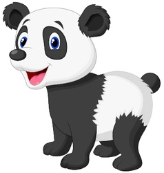 Cute panda bear cartoon vector image