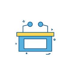desk icon design vector image