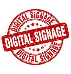 Digital signage red grunge stamp vector