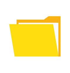 Documents folder files paper cartoon vector