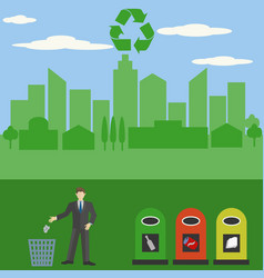 don39t litter recycle keep your city clean and vector image