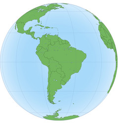 earth globe with focused on south america vector image
