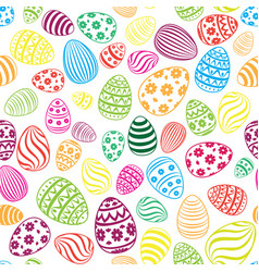 Easter egg seamless pattern holiday background vector